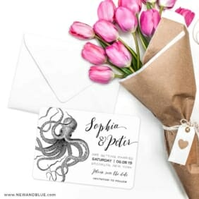 Jules Save The Date Cards With Envelope