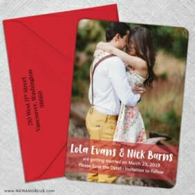 Breckenridge Nb1 5 Save The Date With Optional Color Envelope
