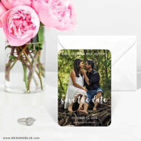 Bliss Nb 6 Wedding Save The Date Magnets