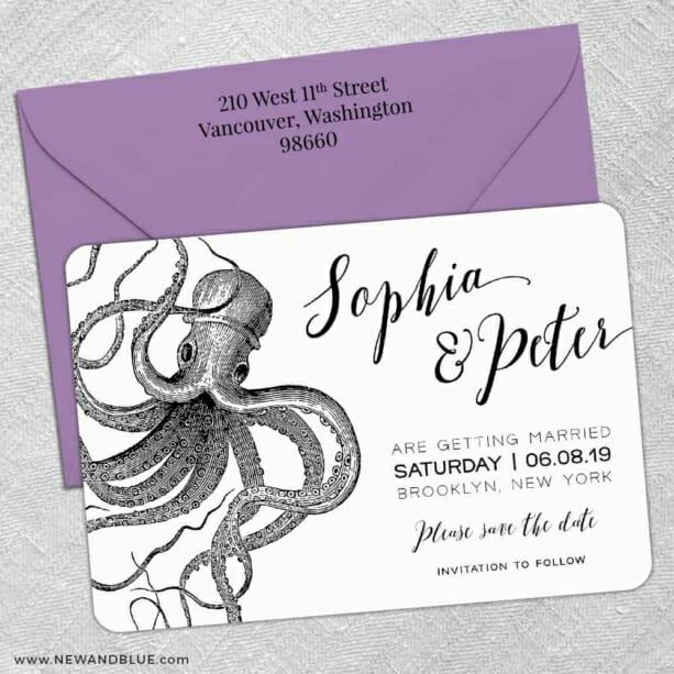 Jules 5 Save The Date With Optional Color Envelope