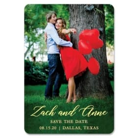 With All My Heart Nb 1 Save The Date Magnets