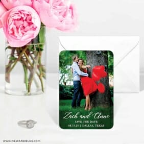 With All My Heart Nb 6 Wedding Save The Date Magnets