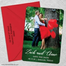 With All My Heart Nb 5 Save The Date With Optional Color Envelope