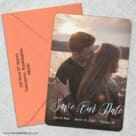 Together Forever 5 Save The Date With Optional Color Envelope