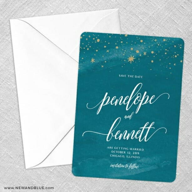 Estrella Save The Date Party Card