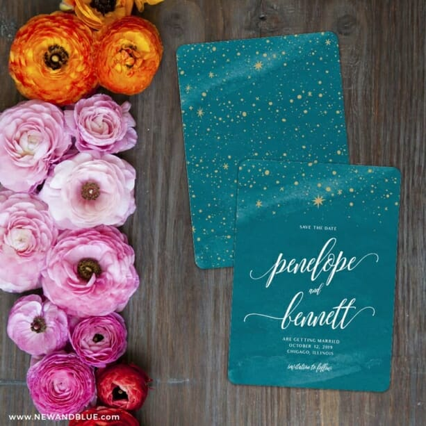 Estrella Save The Date Card With Back Printing