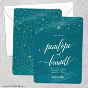 Estrella Save The Date Wedding Card