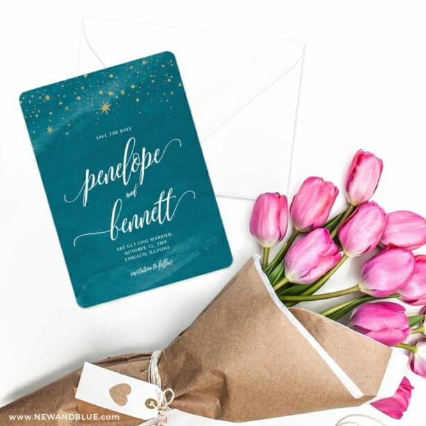Estrella Save The Date Cards With Envelope