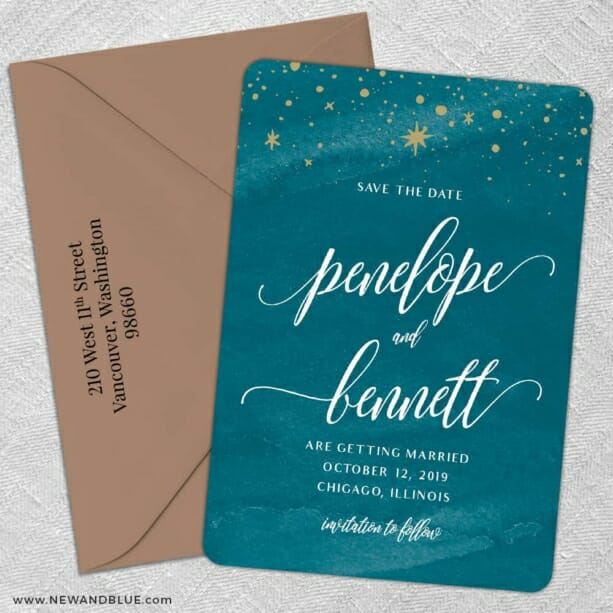 Estrella 5 Save The Date With Optional Color Envelope