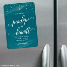 Estrella 3 Refrigerator Save The Date Magnets