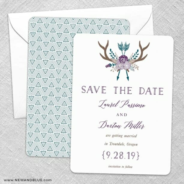 Wildaire Save The Date Wedding Card