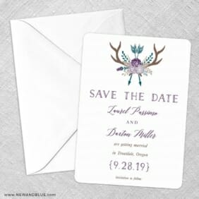 Wildaire Save The Date Party Card