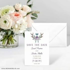 Wildaire Save The Date Card With Envelope