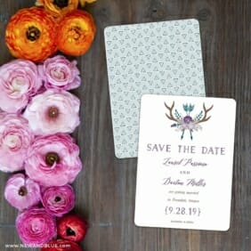 Wildaire Save The Date Card With Back Printing