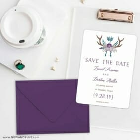 Wildaire Save The Date Cards And Optional Color Envelopes
