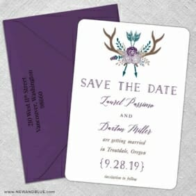 Wildaire 5 Save The Date With Optional Color Envelope