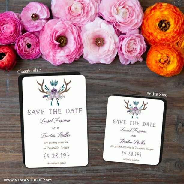 Wildaire 2 Save The Date Magnet Classic And Petite Size
