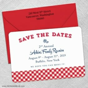 Big Reunion Nb 5 Save The Date With Optional Color Envelope