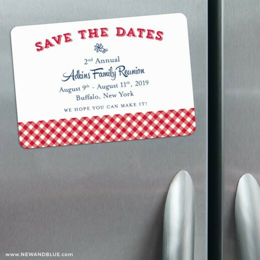 Big Reunion Nb 3 Refrigerator Save The Date Magnets