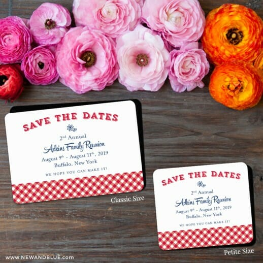 Big Reunion Nb 2 Save The Date Magnet Classic And Petite Size