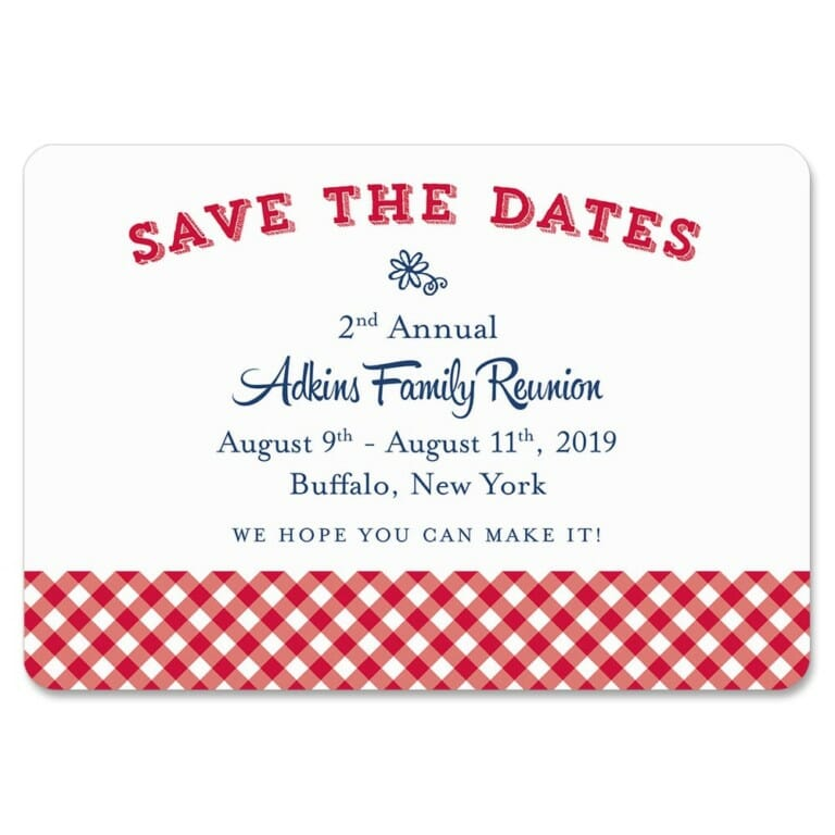 Big Reunion Nb 1 Save The Date Magnets