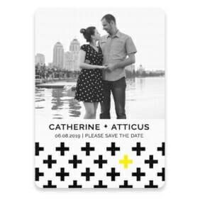 You Plus Me Save The Date Postcards