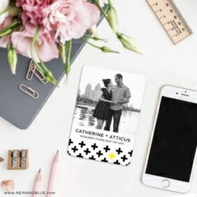 You Plus Me 7 Wedding Save The Date Magnets