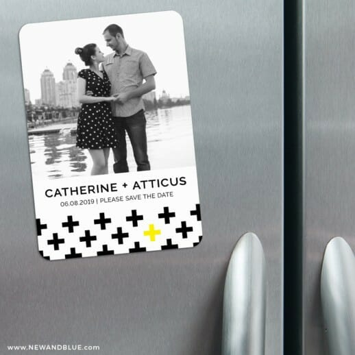 You Plus Me 3 Refrigerator Save The Date Magnets
