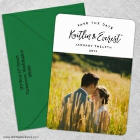 Our Special Love 5 Save The Date With Optional Color Envelope
