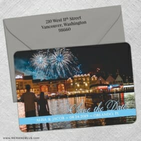 Blissful Love Nb 5 Save The Date With Optional Color Envelope