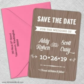 Soho Nb 5 Save The Date With Optional Color Envelope