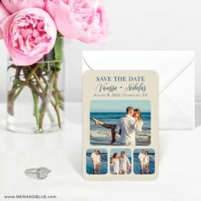 Modern Love Nb 6 Wedding Save The Date Magnets