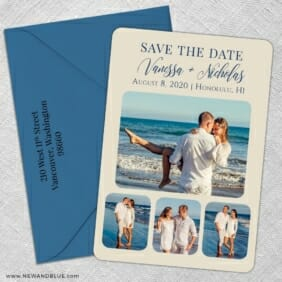 Modern Love Nb 5 Save The Date With Optional Color Envelope
