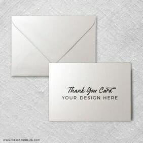 Thank You Cards With Envelope Shown In Shimmer
