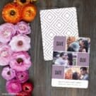 Love Story Save The Date Card With Back Printing