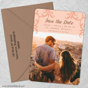 Isabella Nb 1 5 Save The Date With Optional Color Envelope