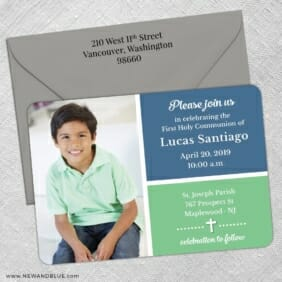 Holy Communion Nb 5 Save The Date With Optional Color Envelope