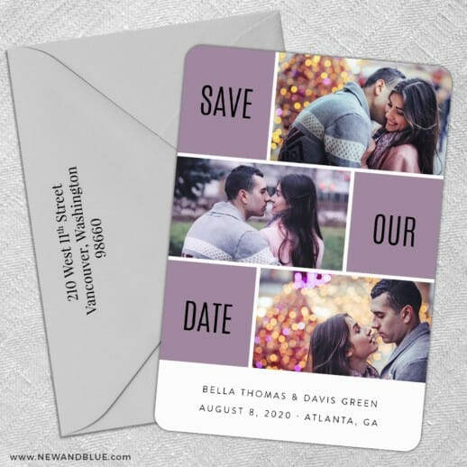 Love Story 5 Save The Date With Optional Color Envelope