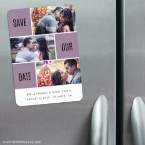 Love Story 3 Refrigerator Save The Date Magnets