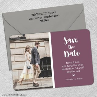 Summer Love Nb 5 Save The Date With Optional Color Envelope