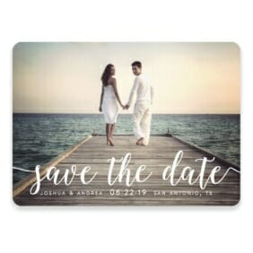 Handwriting Save The Date Postcards