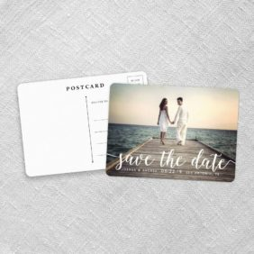 Handwriting Save The Date Postcards Fb