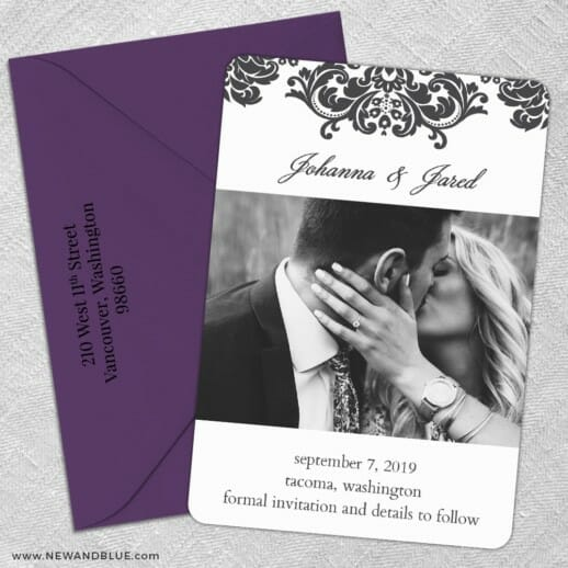 Napa Nb 5 Save The Date With Optional Color Envelope