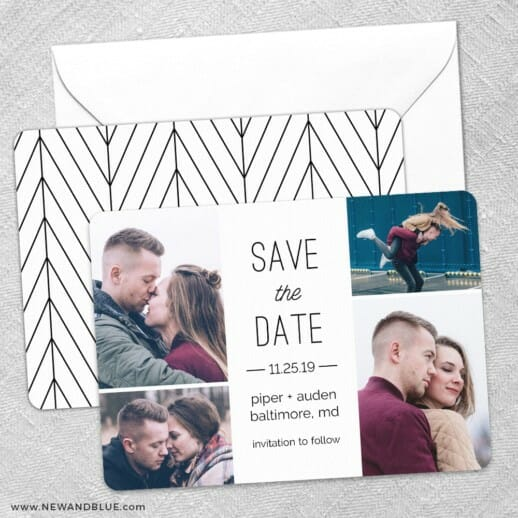 Baltimore Save The Date Wedding Card