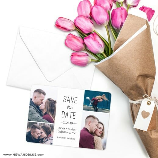 Baltimore Save The Date Cards With Envelope