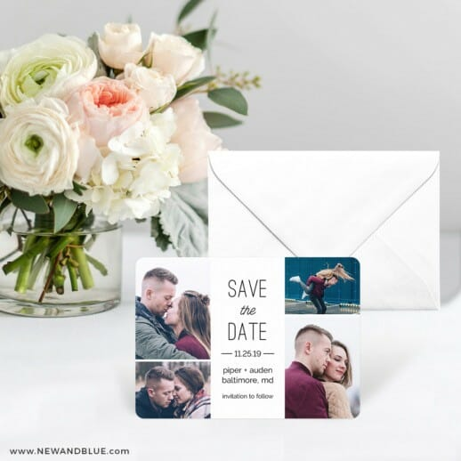 Baltimore Save The Date Card With Envelope