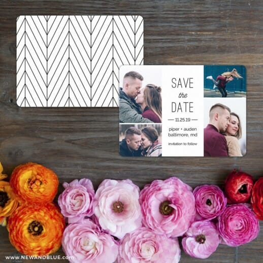 Baltimore Save The Date Card With Back Printing