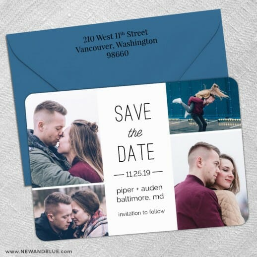Baltimore4 5 Save The Date With Optional Color Envelope