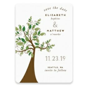 Wedding Tree Save The Date Postcards