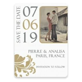 Timeless Romance Save The Date Postcards